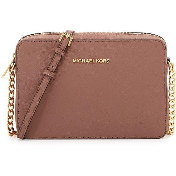 MICHAEL Michael Kors Jet Set Travel Large Crossbody Bag , shoulder bags,  dusty rose,