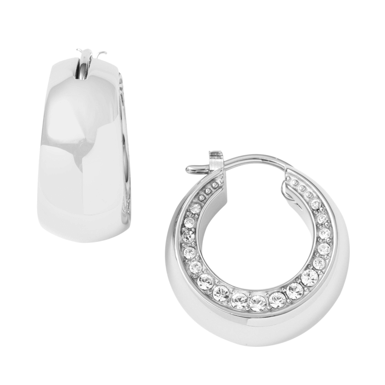 Stone Set Small Hoop Earrings Dkny Code 9643680 Jewellery Pinterest