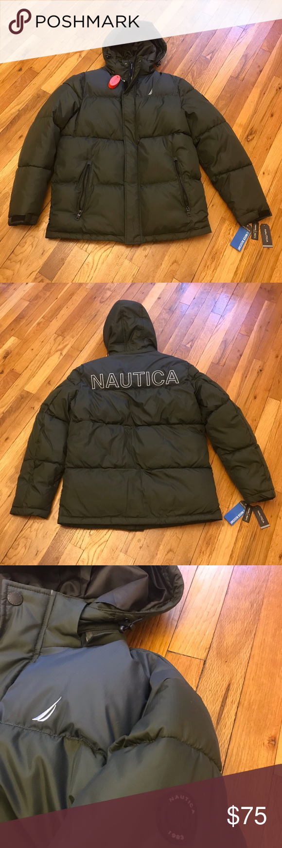 Nautica Polyester Puffer Jacket Hooded Olive Nwt Description Nautica Man S Jacket 100 Polyester Water Resistant With Innov Jackets Puffer Jackets Hand Warmers [ 1740 x 580 Pixel ]