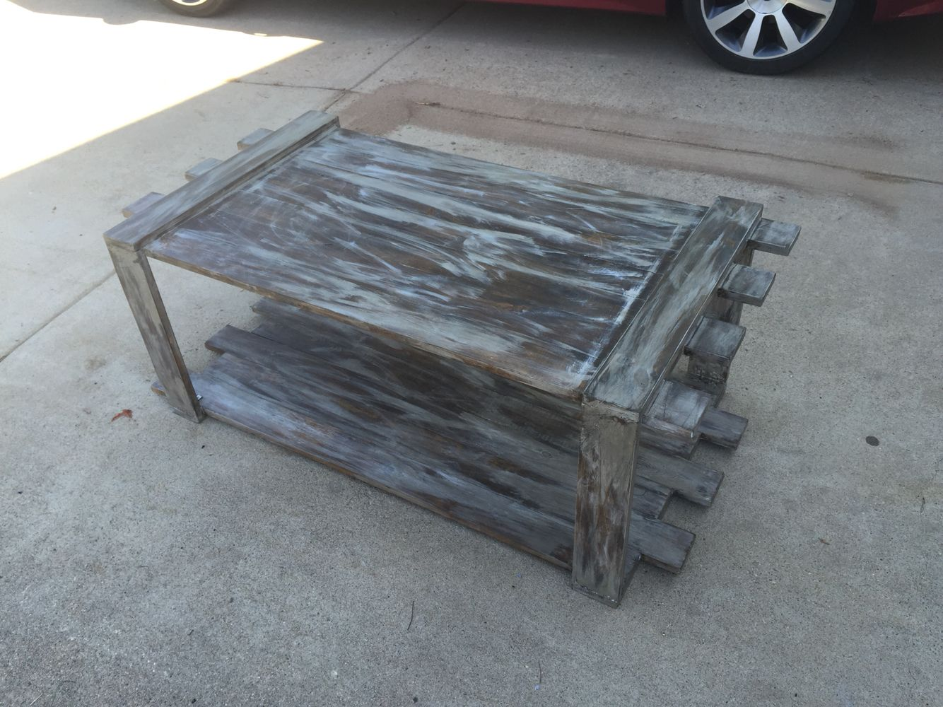 Baby blue distressed coffee table coffee tables pinterest baby blue distressed coffee table geotapseo Gallery
