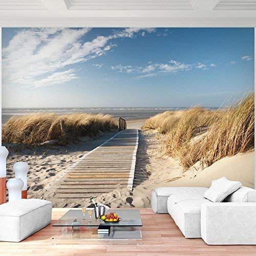 Fototapete Strand Meer 352 x 250 cm Vlies Wand Tapete Wohnzimmer - moderne tapeten fr schlafzimmer