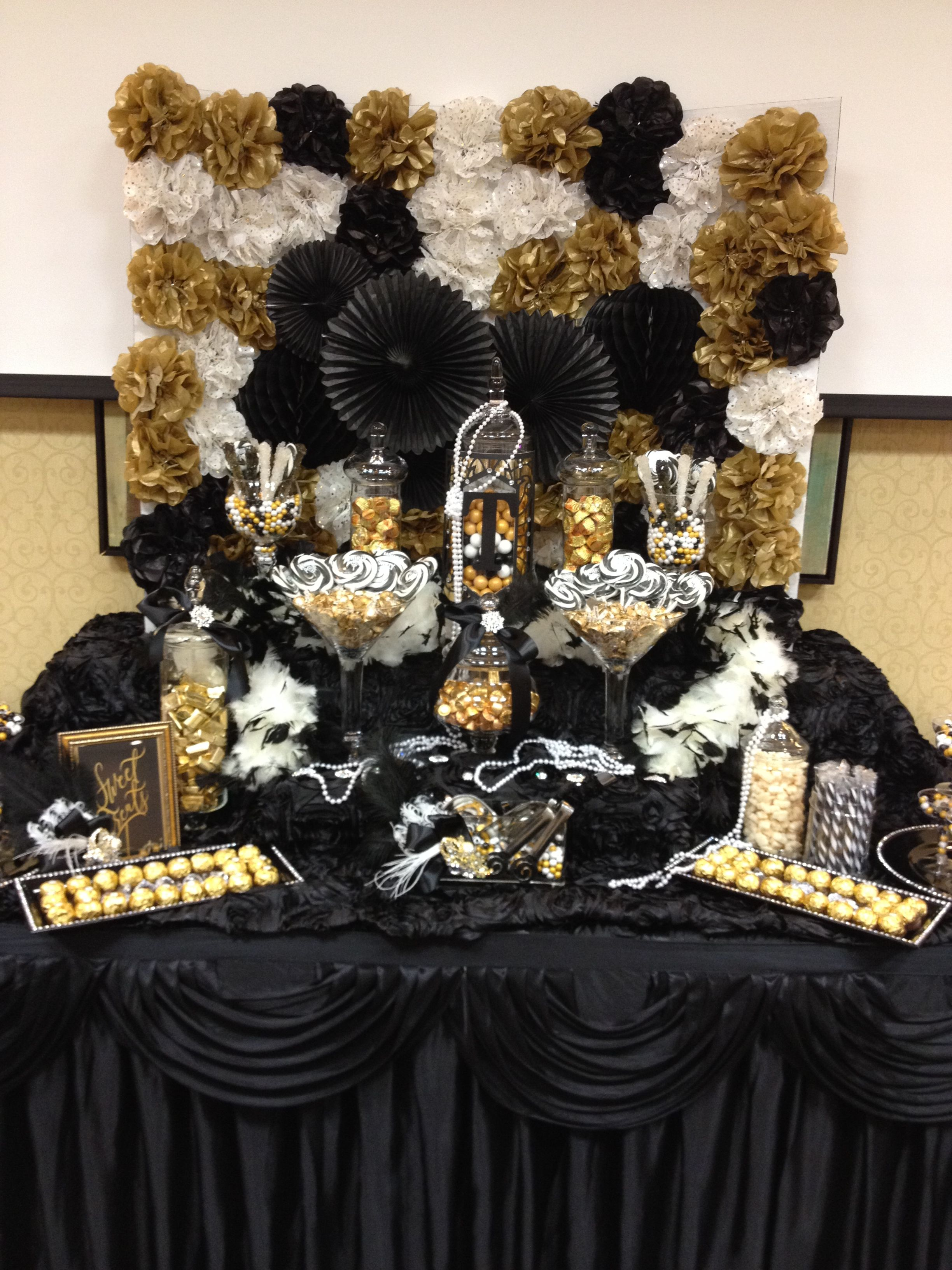 great gatsby themed candy buffet by sweet girls candy buffet great gatsby theme pinterest. Black Bedroom Furniture Sets. Home Design Ideas