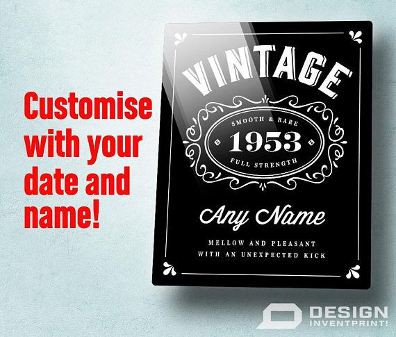 65th Birthday Gift High Quality Print Personalized Shipped To Your Door 1953 Bir