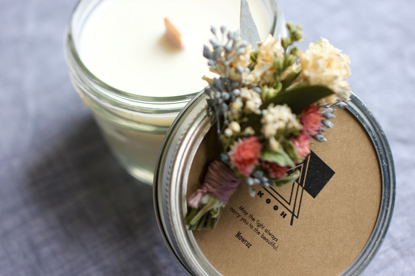 Buy your Nowruz soy candle at www.kooh.org