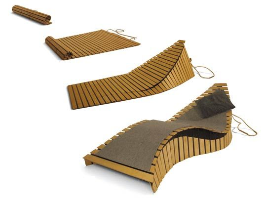 Confused Direction, PoissonMobile Chaise And Mat, Fold Up Chaise Lounge,  Modular Furniture