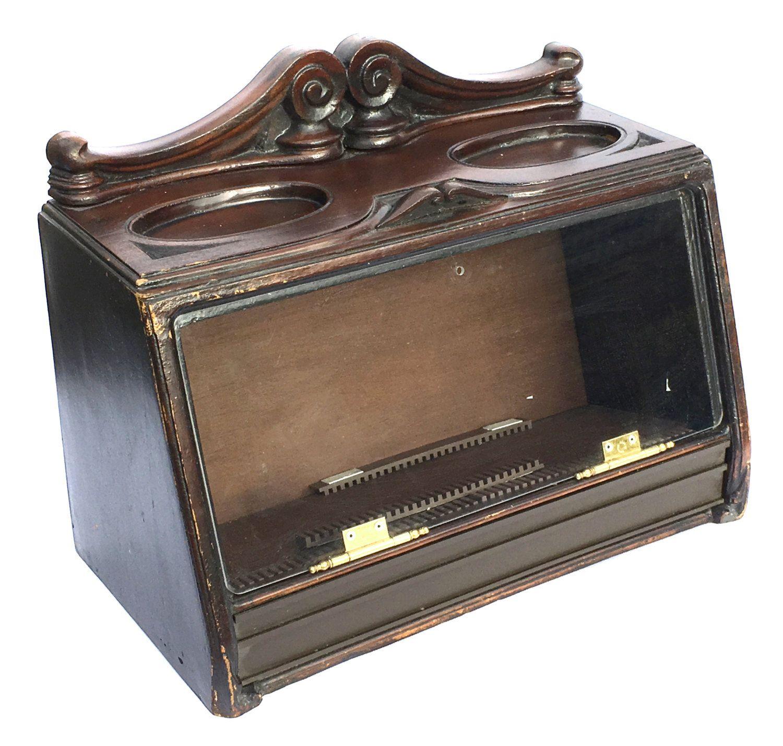 Vintage Cigar Cabinet for Gallaghers Cigars Vintage Display Case Tobacciana  Advertising Case Smoking Memorabilia Tobacco Display - Vintage Cigar Cabinet For Gallaghers Cigars Vintage Display Case