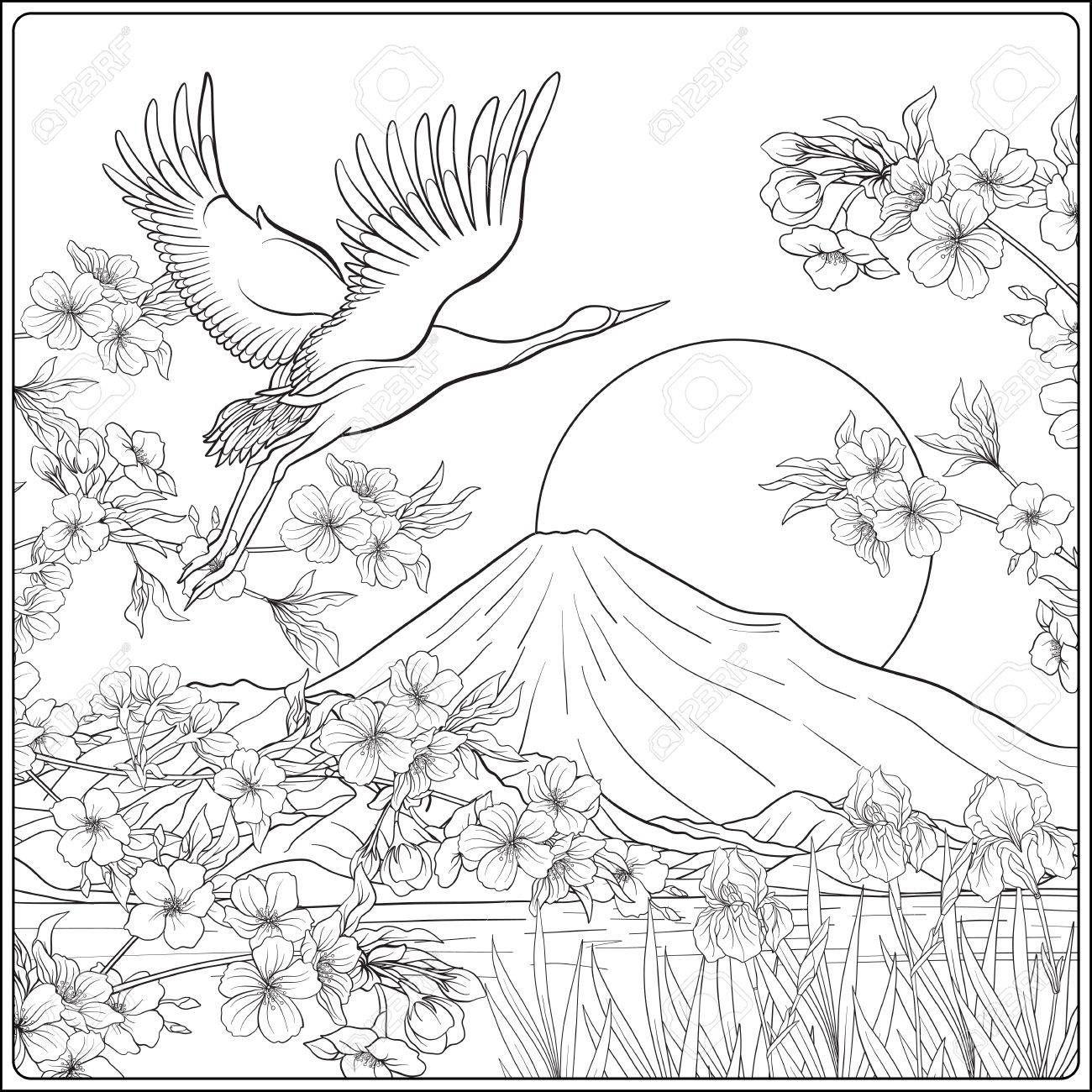 Dibujos Para Colorear De Paisajes Con Flores - Impresion ...