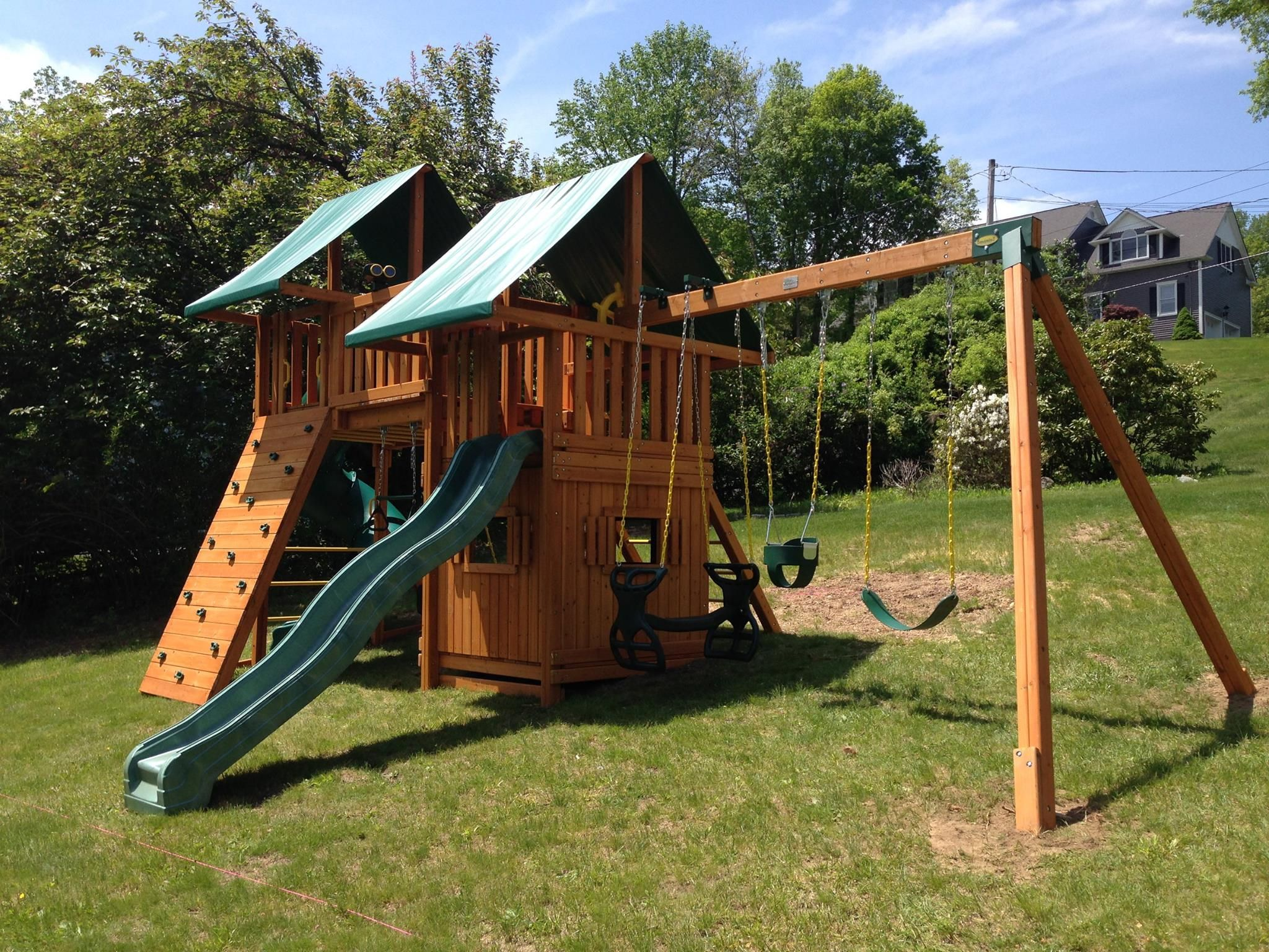 Wooden Swing Sets Add So Much Joy To A Backyard This Fantasy