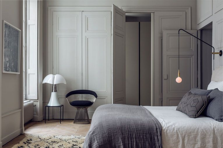 Bedrooms. Inspirational Stunning Modern French Apartment in Lyon   Apartment