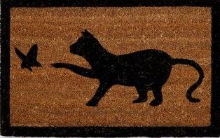 Paillasson chat noir tendance