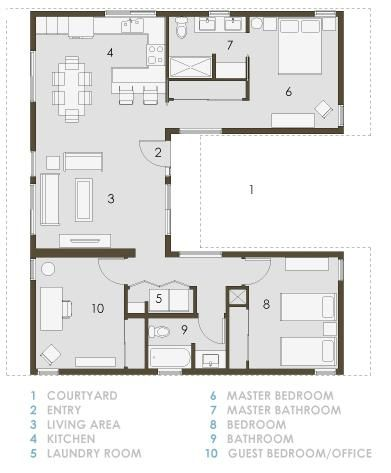 U plan plans for apartments houses pinterest the for Apartment plans with courtyard