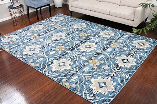 Paris Collection Oriental Carpet Area Rug Black Blue 5050ablue 8x11 8x10 7 10x10 2 Carpets Area Rugs Oriental Carpets Area Rug Decor