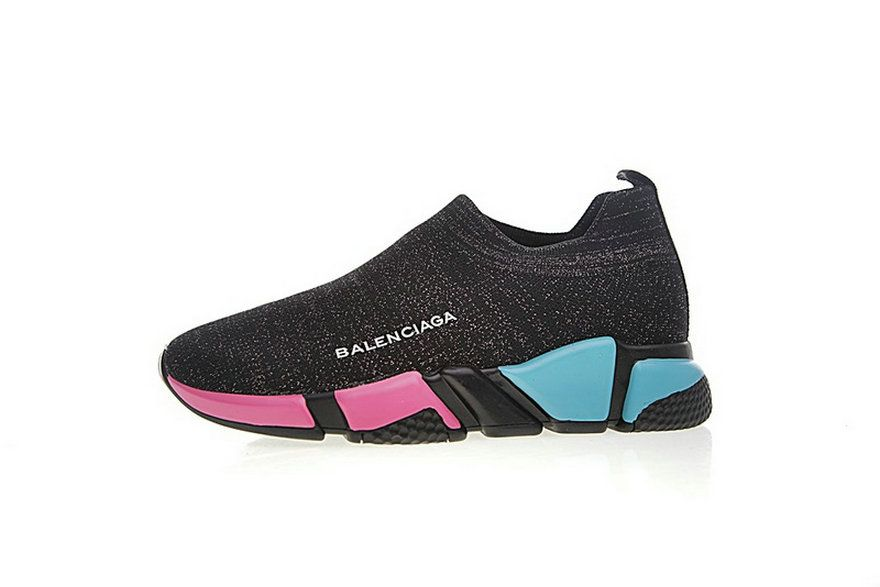 1347e571a119 Balenciaga Speed Stretch Knit Low Woxh8681 Black Rainbow Outsole Latest and  Newest Shoe