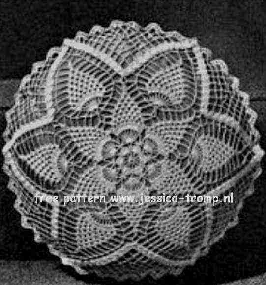 Pineapple Doily Or Pillow Crochet Pineapple Designs Book No 102