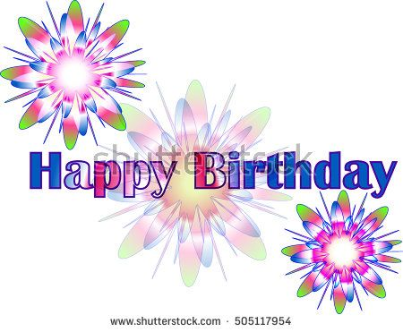 Happy Birthday Vector Greeting Card Background Gdtech Pinterest