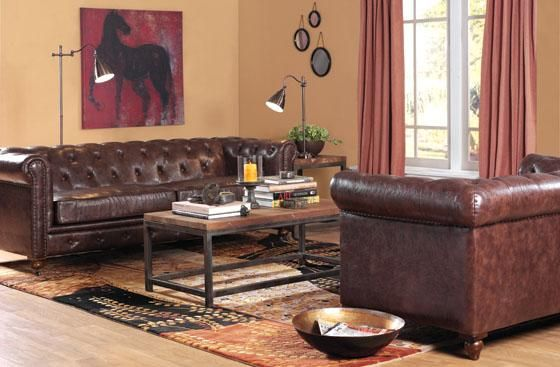 Beau Home Decorators Gordon Leather Couch Brown Blue Or Black Leather