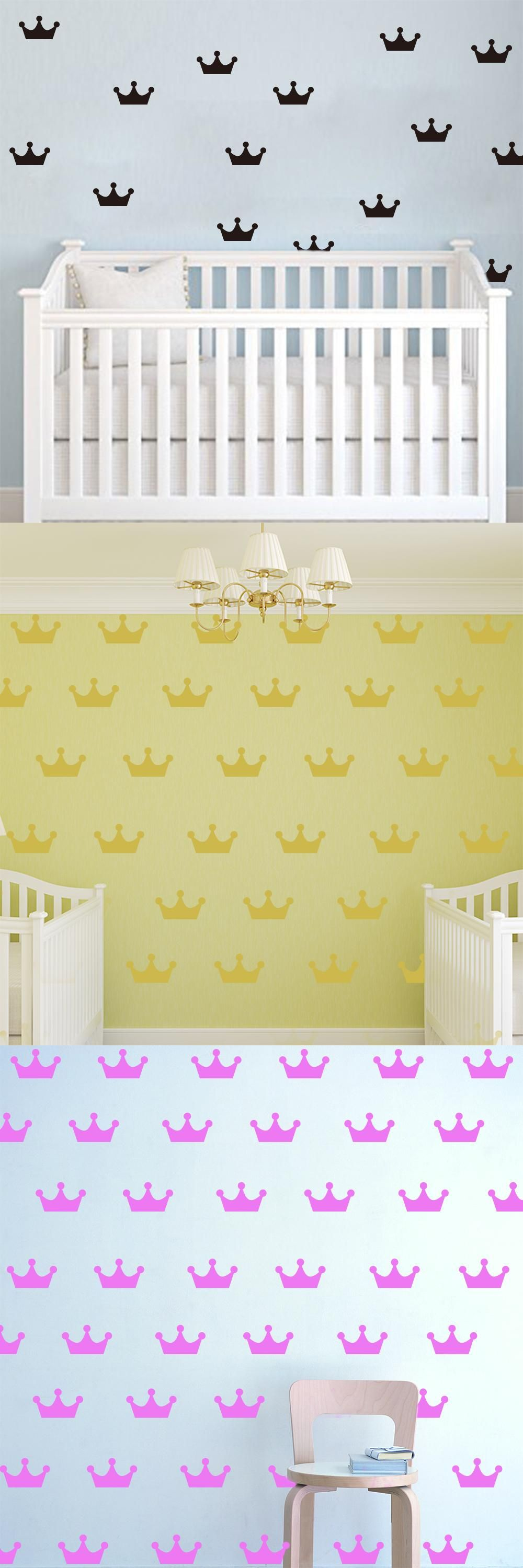 Cartoon Crowns Wall stickers DIY Wall Decals For Kids Room Decor ...
