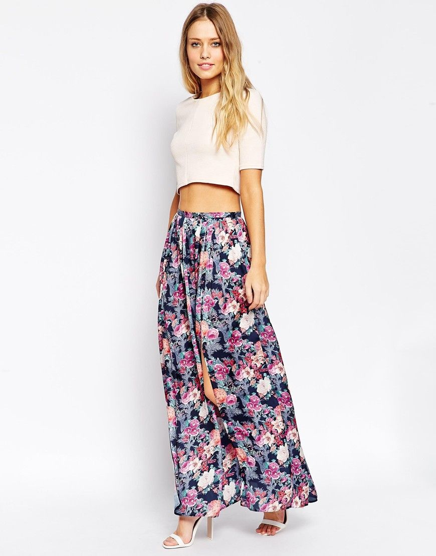 ASOS Maxi Skirt with Splits in Floral Print | Talking Angela ...