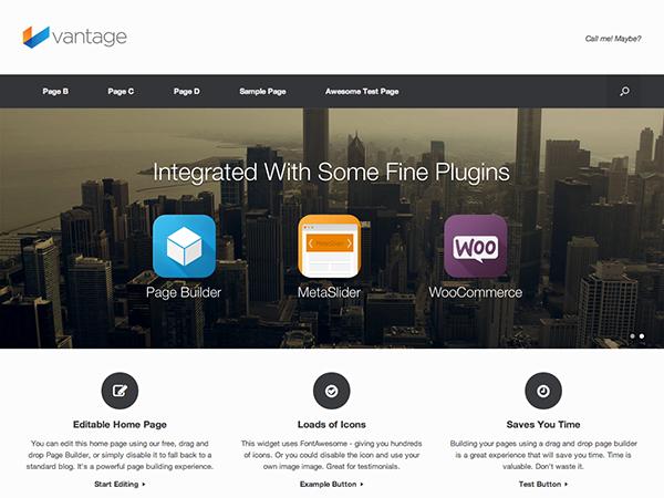Vantage Free WordPress Theme   Free WordPress Themes   Pinterest ...
