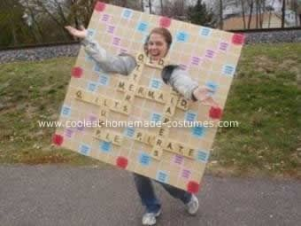 Coolest operation and scrabble game costumes carnavales for Diy scrabble costume