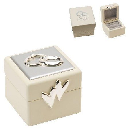 Beautiful Amore Double Wedding Ring Box Amazoncouk Kitchen