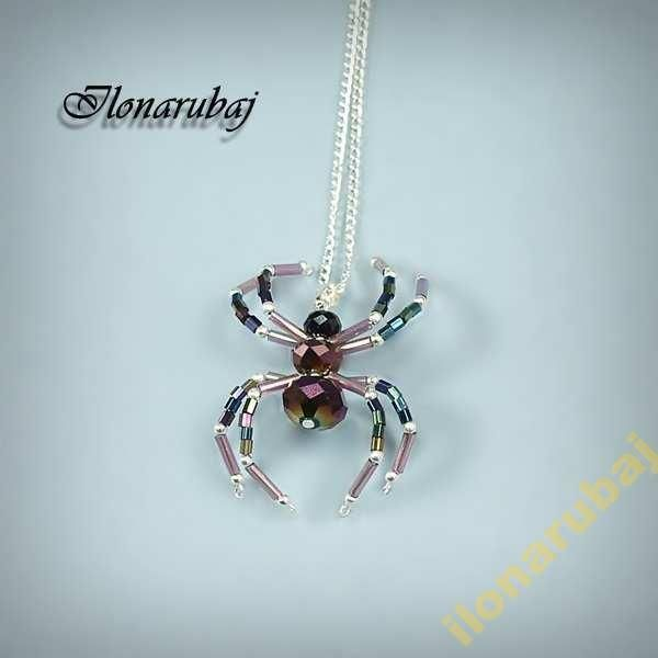 Pajak Wisior Fioletowy Promocja Spider Belly Button Rings Necklace