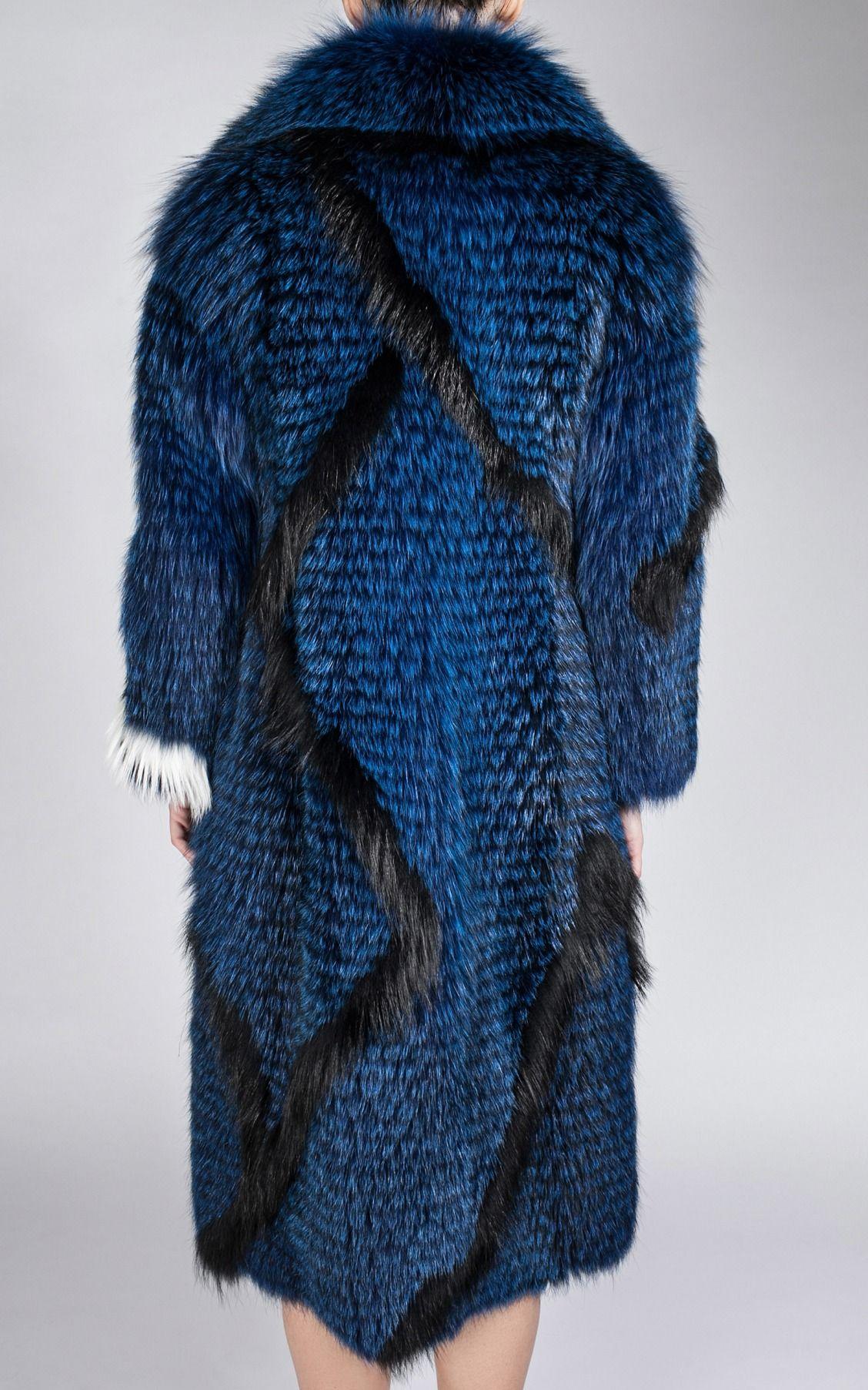 Long Fox Coat by Color Temperature | Moda Operandi