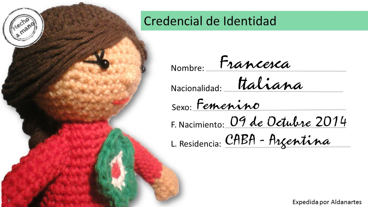 Credencial Francesca | credencial | Pinterest