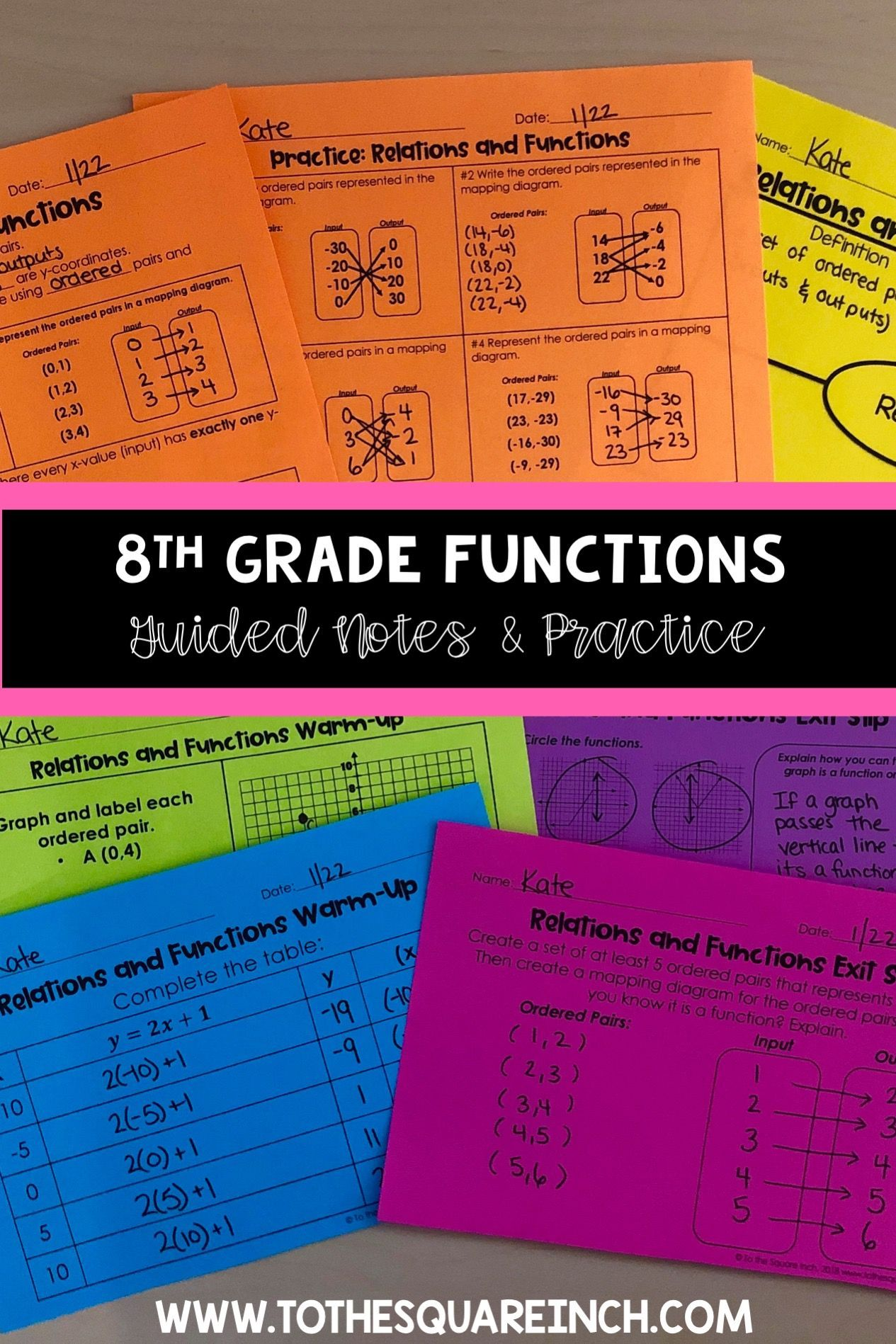 Functions 8th Grade Math Guided Notes And Activities Math Guided Notes 8th Grade Math Guided Notes [ 1898 x 1265 Pixel ]