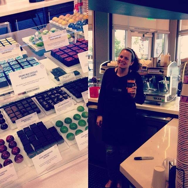 Glory's first day back working at our Costa Mesa store since her RA training started a month ago. She's here most Mondays and Wednesdays, so if you're in the area, make sure to stop in and say hi! XO #chocxo #coffeelovers   #chocolatelovers
