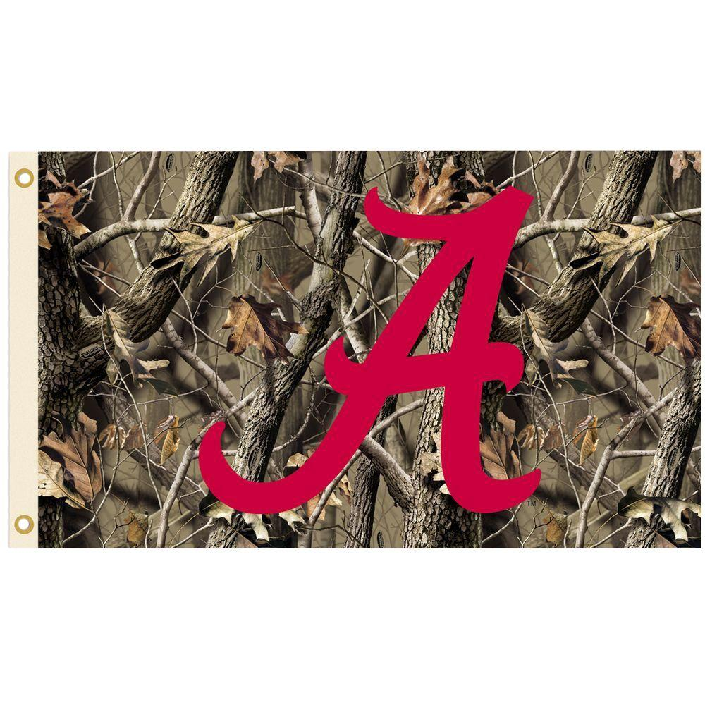 Bsi Products Ncaa 3 Ft X 5 Ft Realtree Camo Background Alabama