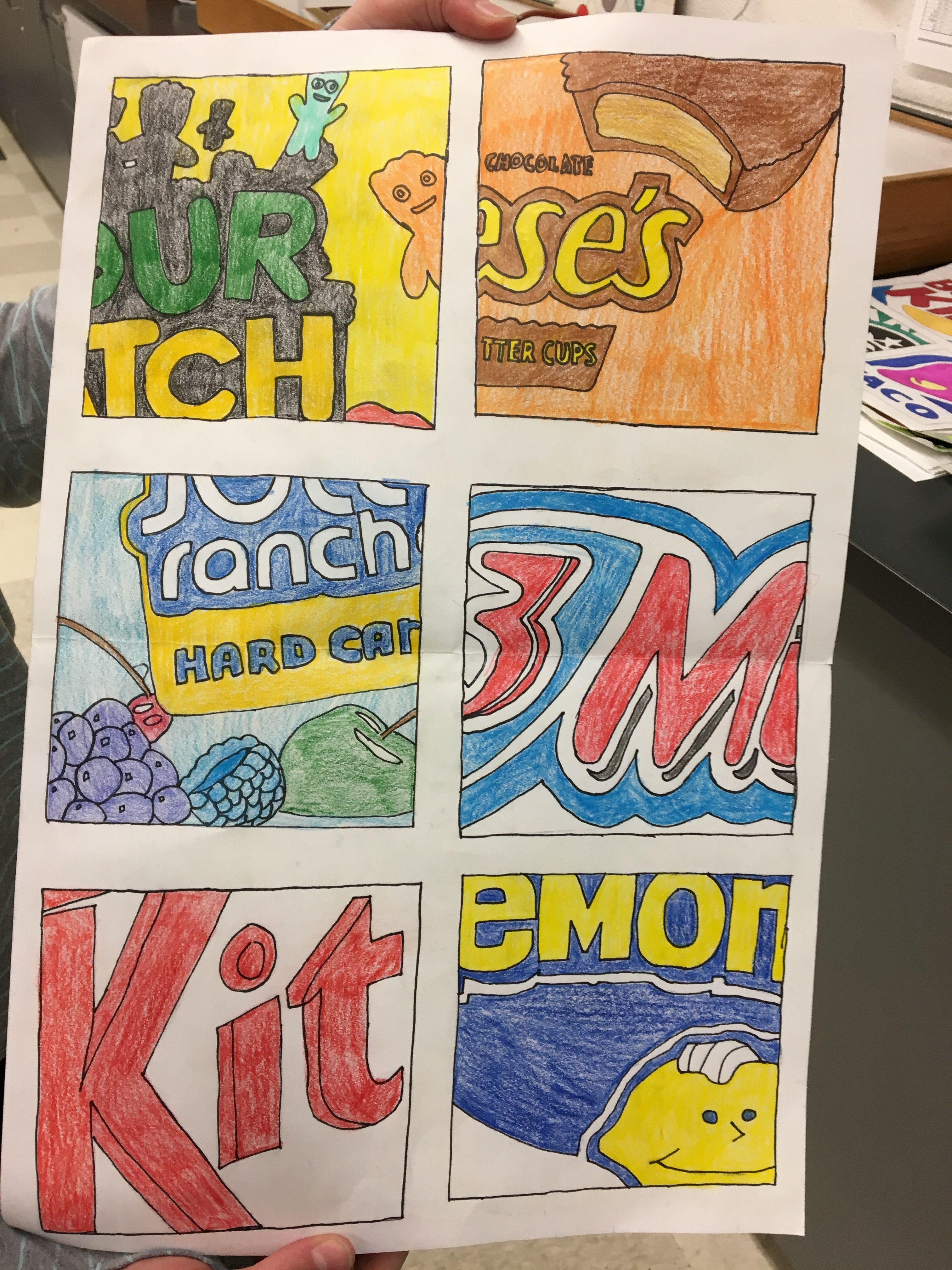 Candy Pop Art 7th Grade