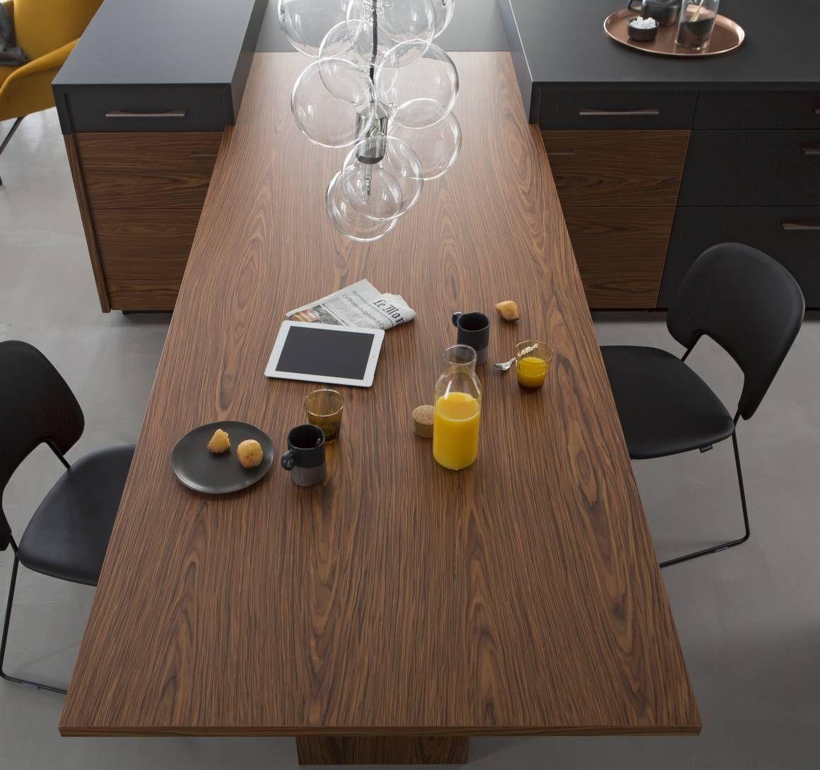 Ilot Central Plaque Et Four ~ Ilot De Cuisine Avec Table En Bois Int Gr E Perene Nos Ambiances