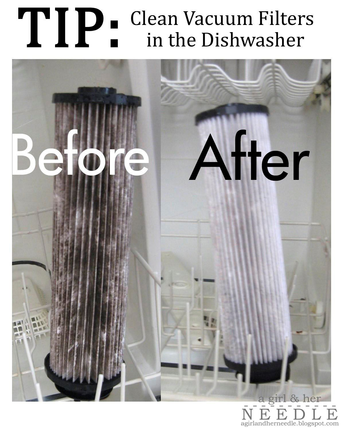 TIP Clean Vacuum Filters in the Dishwasher Cleaning