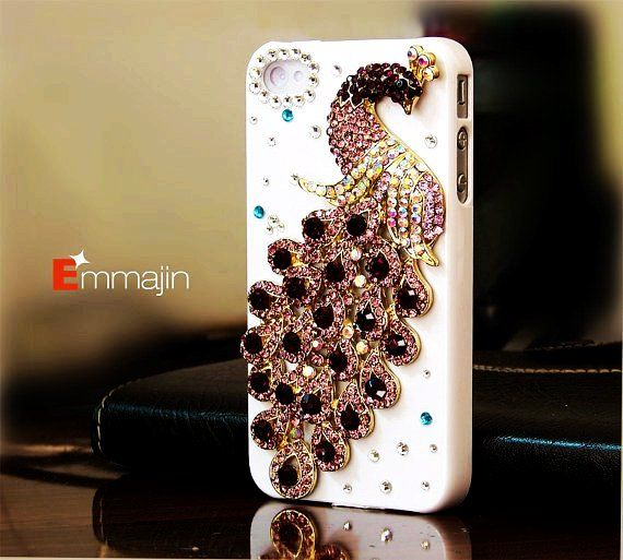 Crysta Bling Peacock Cute IPhone 4S Cases For Girls