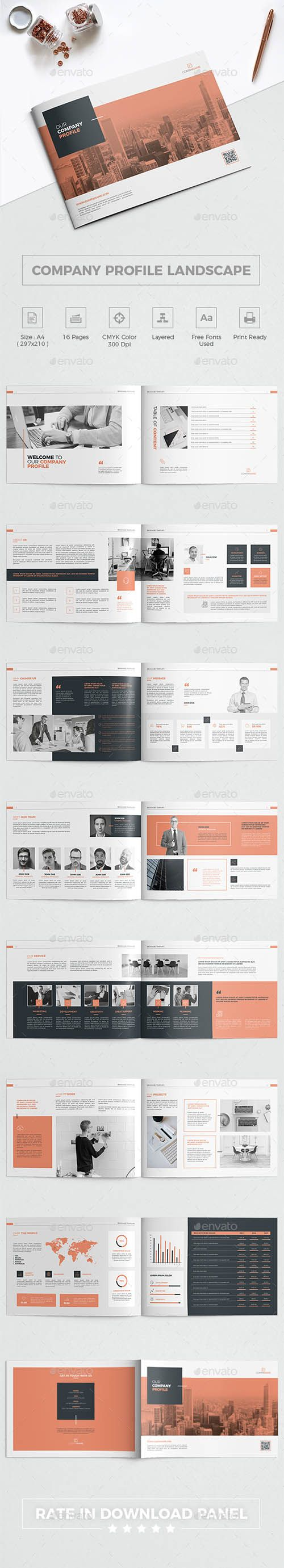 GR Company Profile Landscape Brochure 21556307