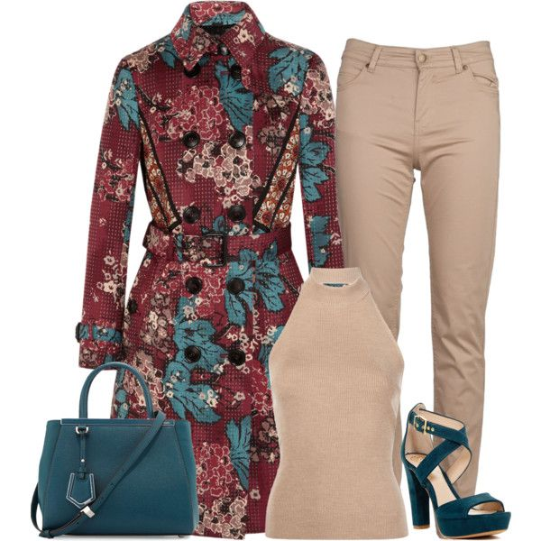Untitled #3628 by fashion-nova on Polyvore featuring Rosetta Getty, Burberry, Barbour, Vince Camuto and Fendi