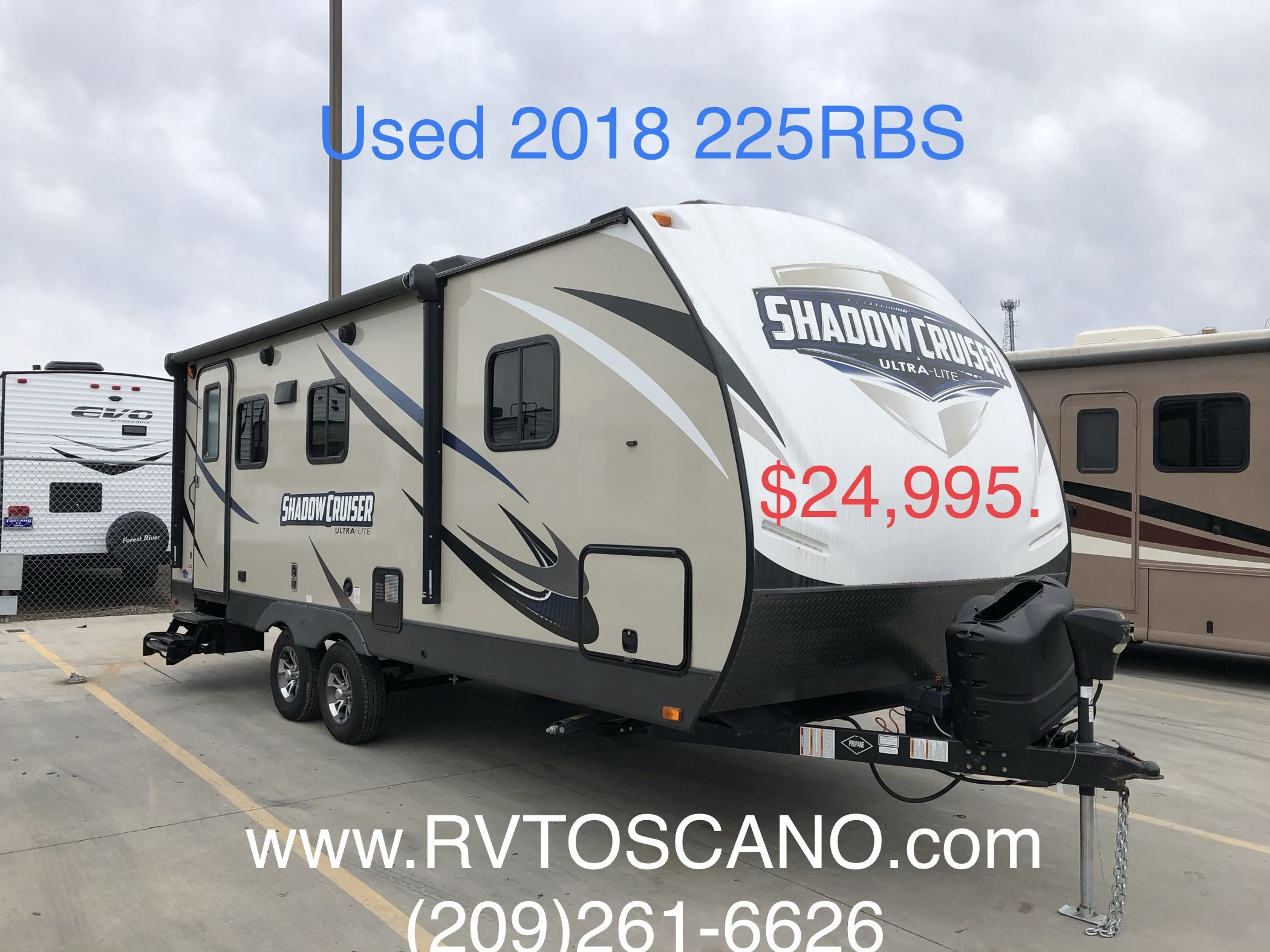 Clean Used 2018 2018 Shadow Cruiser 225rbs Travel Trailer For Sale
