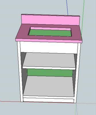 Ana White\u0027s sink plans make my own! Pinterest Sinks, Ana white