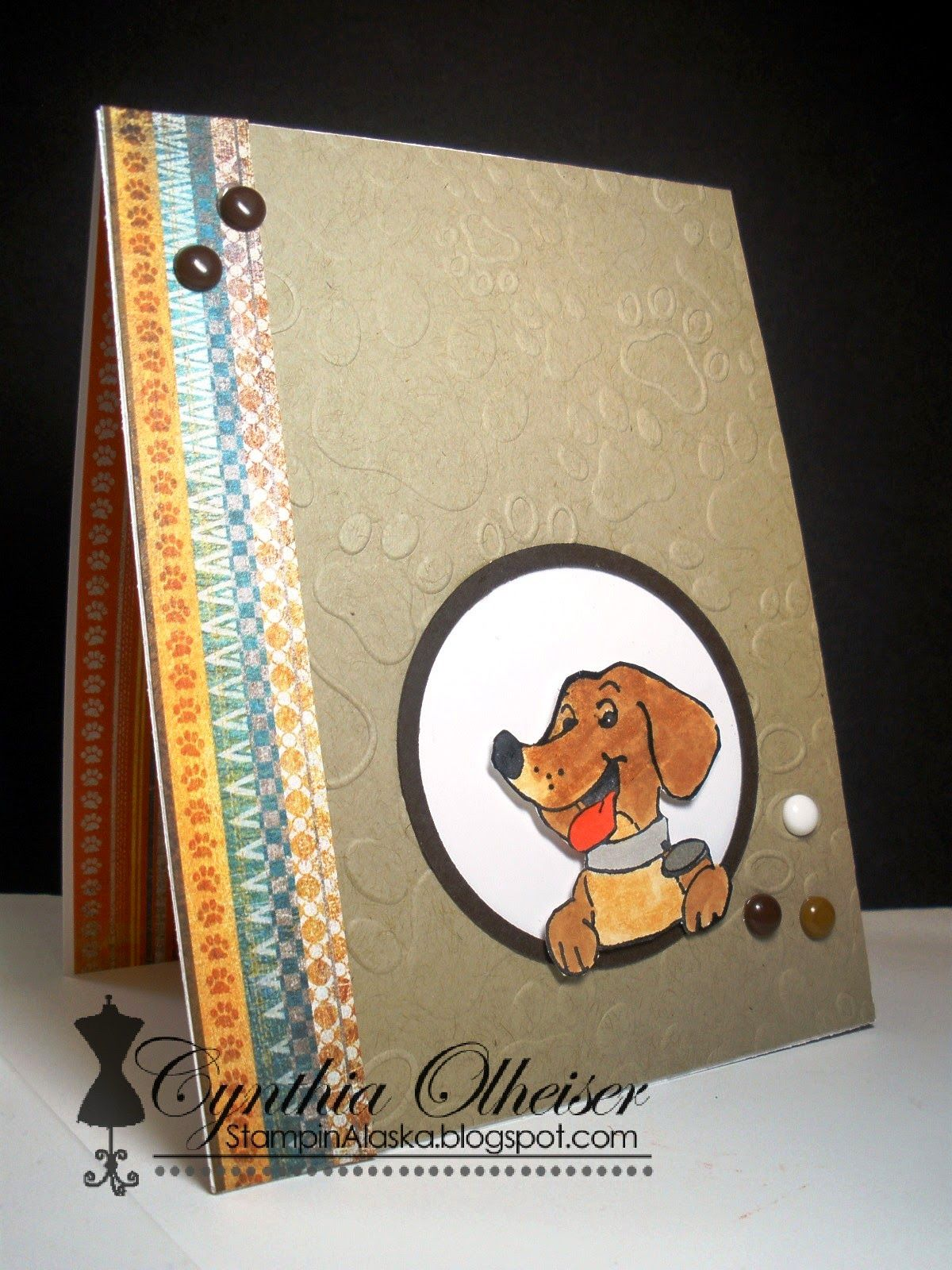 Art Impressions To The End Set Ai Front And Backs Handmade Dog Themed Birthday Card Inside Of