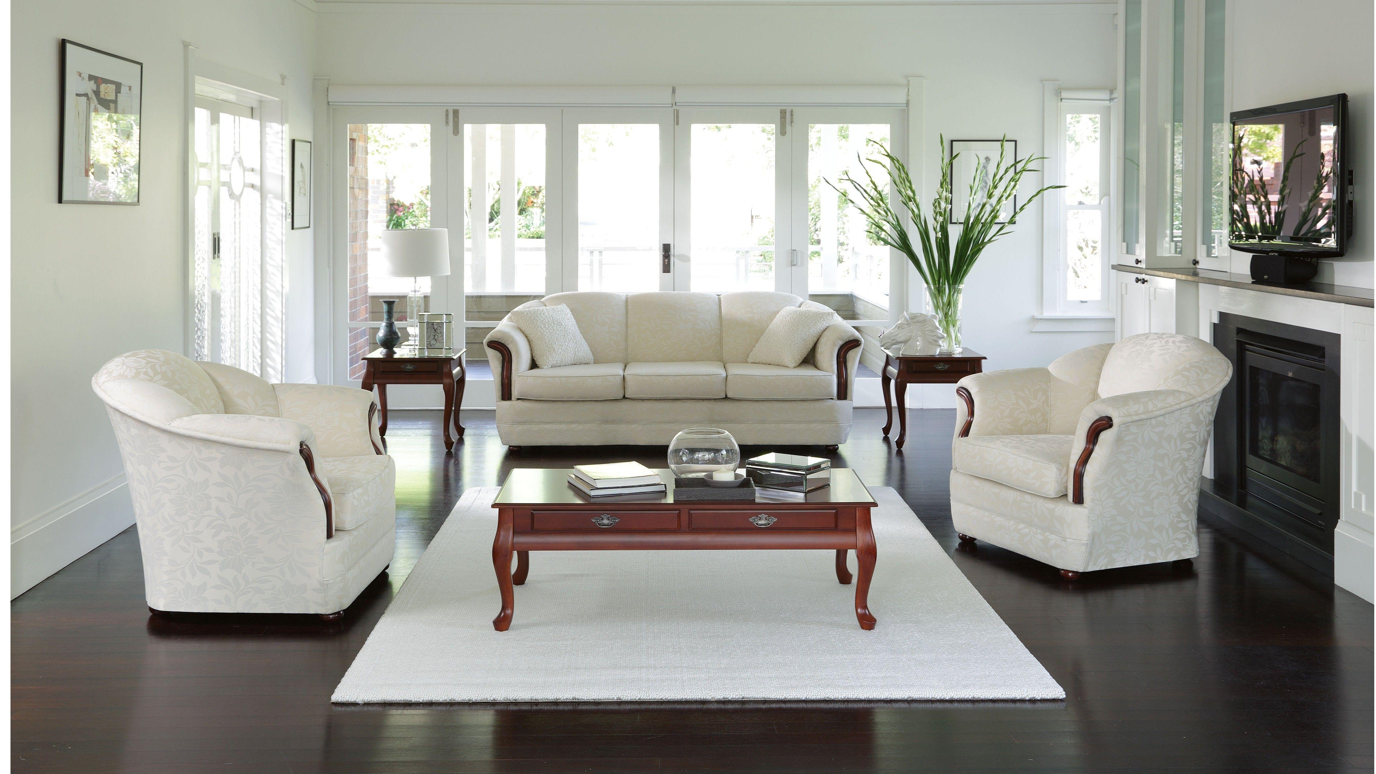 Seashell 3 Piece Fabric Lounge Suite | Home Design/Decor | Pinterest ...