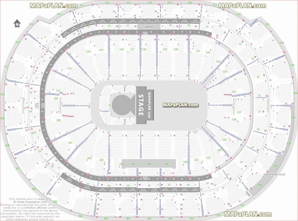 Verizon Center Seating Chart With Seat Numbers Di 2020