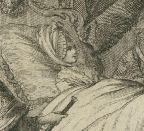 Détail de Marie Antoinette au lit, d'après une estampe montrant la naissance  de son fils, Louis Joseph, 1781, …   Marie antoinette, French history,  Marie antionette