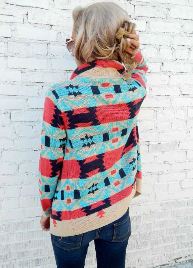 Colorful Cardigan- Swanky Boutique