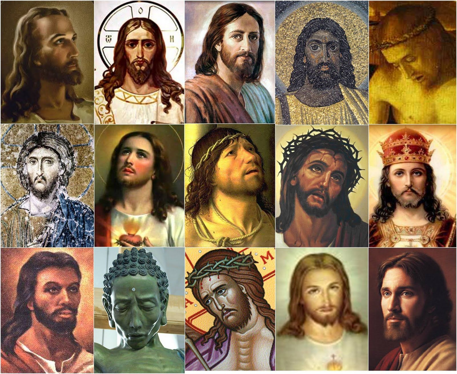 Image result for jesus many faces