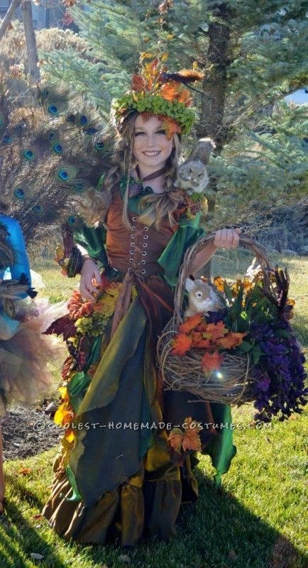 Beautiful Handmade Mother Daughter Nature Costume Costumes - Mother makes daughters dreams come true incredible disney costumes