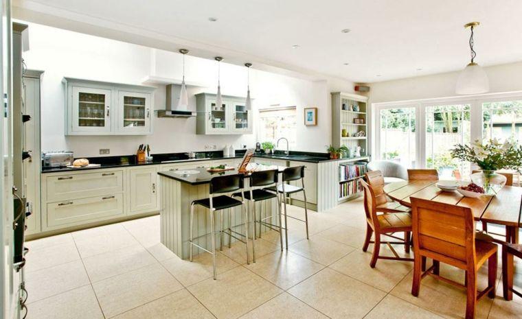 come arredare soggiorno cucina in un unico ambiente con mobili della ...