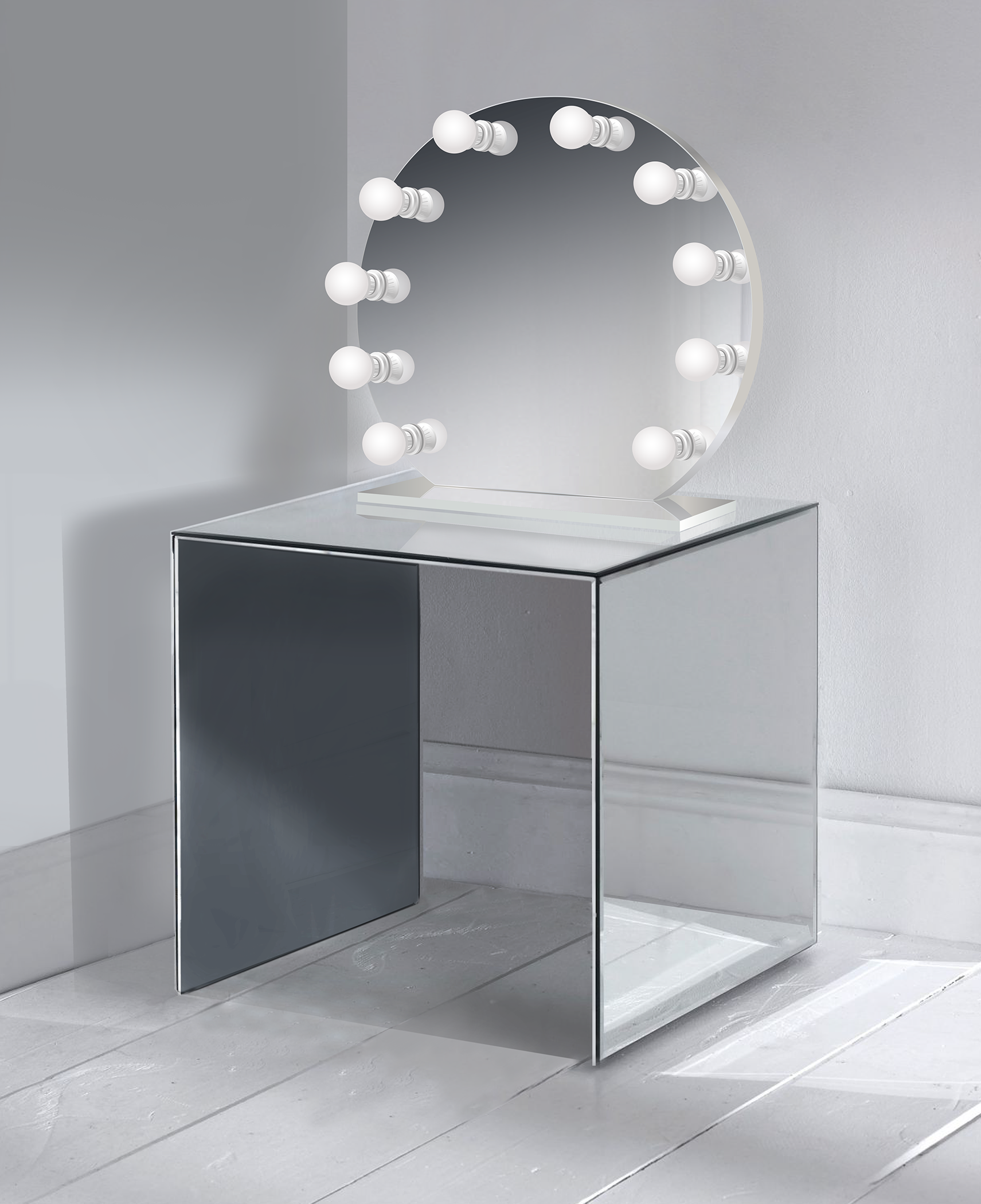 Iris 28 Glam mirror, Installing Makeup table