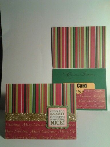 December 2015 card swap. Theme gift card cardholder. Created by Shirley Good.