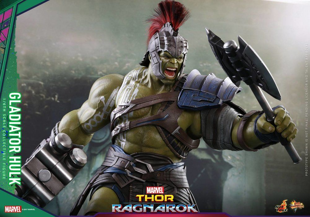 Hot Toys Reveals Roadworn Thor And Gladiator Hulk Thor Ragnarok Action Figures Geektyrant Gladiator Hulk Marvel Gladiator Hulk
